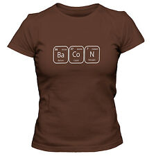 Women's Bacon Periodic Table Of Elements T-Shirt Funny Science Chemistry Lover