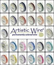 Artistic Wire - Tarnish Resistant and Silver Plated Wires (10 Different Gauges)