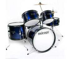 Mirage JDK 5 Piece Junior Drum Kit With Stool and Sticks - Blue