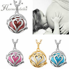 Baby Chime Pendant Harmony Ball Necklace Silver Heart Coloful Beads Charms