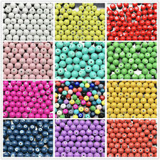 Wholesale 4mm 6mm 8mm 10mm Round Glass Pearl Spacer Loose Beads Jewelry Making#1