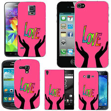 gel case cover for many mobiles - blush love healing silicone