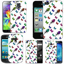 motif case cover for various Mobile phones -   multi rose butterfly