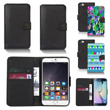black pu leather wallet case cover for many mobiles design ref q374