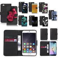 black pu leather wallet case cover for popular mobiles design ref a38