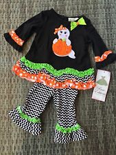 RARE EDITIONS HALLOWEEN GHOST BABY GIRL OUTFIT SET