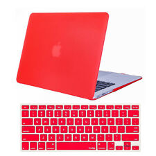 "Rubberized Crystal Hard Shell Case + Keyboard Cover For Macbook White 13"" A1342"