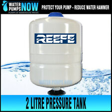 Reefe Pressure tank, for quiet pump, reduces water hammer 2 or 8l 5 yr warranty