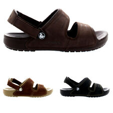 Mens Crocs Yukon Two Strap Holiday Slippers Beach Mules Summer Sandals All Sizes