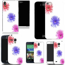 gel case cover for many mobiles - diagonal flower silicone