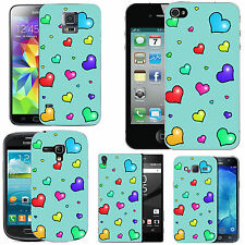 motif case cover for many Mobile phones - azure many lots hearts