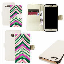 pu leather wallet case for majority Mobile phones - shrewd white