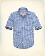 Button Shirt Sleeve Casual Mens Down Shirts Fit Long S Slim Tops Size Hollister