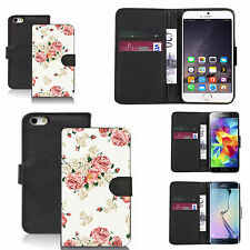 pu leather wallet case for many Mobile phones - pink carnation
