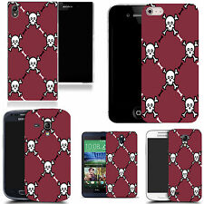 case cover for majority Popular Mobile phones - burgundy skull pictoral silicone