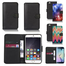 black pu leather wallet case cover for many mobiles design ref q318