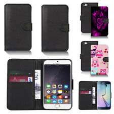 black pu leather wallet case cover for apple iphone models design ref q565