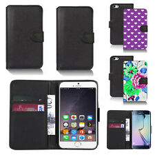 black pu leather wallet case cover for apple iphone models design ref q400