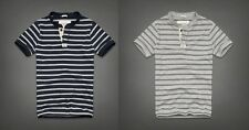 NWT Abercrombie & Fitch Pinnacle Mountain Henley Navy & Grey Stripes Size L