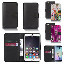 black pu leather wallet case cover for many mobiles design ref q526