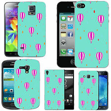 gel case cover for many mobiles - azure pink balloon droplet silicone