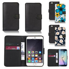 black pu leather wallet case cover for apple iphone models design ref q296