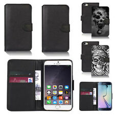 black pu leather wallet case cover for apple iphone models design ref q756
