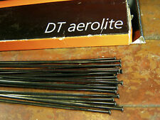 "DT SWISS AEROLITE Spokes Black ""Bladed"" STRAIGHT-PULL *Any Qty**Any Length* NEW"