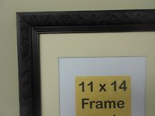 Black Ornate Picture Frame 8x10 or 11x14 Picture Frame with Photo Mat Included