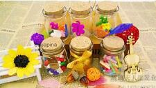 Glass Favor Canister Treat Storage Jar Bottle Container Storage with Cork 4 Type