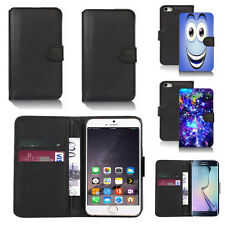 pu leather wallet case cover for many mobiles design ref q02