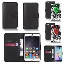 black pu leather wallet case cover for apple iphone models design ref q361