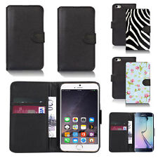 black pu leather wallet case cover for many mobiles design ref q661