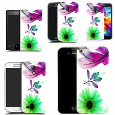 gel case cover for many mobiles  - purple feather silicone