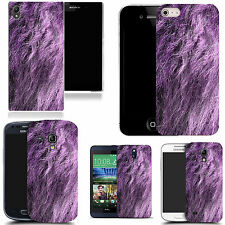 gel case cover for many mobiles  -  purple animal fur silicone