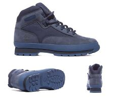 Mens Timberland Euro Hiker Boots Navy Blue Suede Sizes UK 7 - UK 8