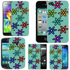 motif case cover for many Mobile phones - azure coloured six petal