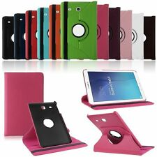 """360 Degree Rotating Leather Stand Case Cover For Samsung Galaxy Tab E 9.6"""" T560"""