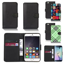 pu leather wallet case cover for apple iphone models design ref q136