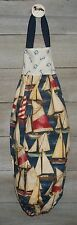 Sailboats Allover on Navy Plastic Grocery Bag Rag Sock Holder Organizer HCF&D