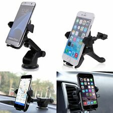 360°Rotating Windshield/Air Vent Car Holder Mount Cradle For iPhone Samsung GPS