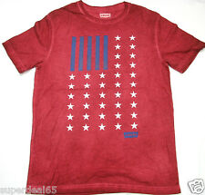 Levi's T Shirt Levis Strauss & Co Rouge Wash Flag 100% Cotton Levis