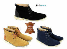 Mens Leather Desert Casual Ankle Boots Fashion Chelsea Chukka Suede Shoes Size