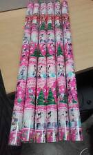 disney pink christmas wrapping paper - 6 x rolls of 6mtr long