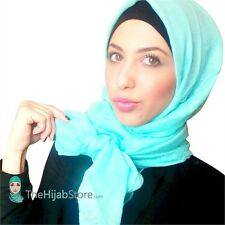 TheHijabStore Viscose Oblong Maxi Hijab Scarf In 43 Plain Solid Colors