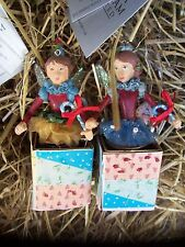 BNWT Sweet Factory Jack In The Box Christmas Fairy Decorations by Gisela Graham