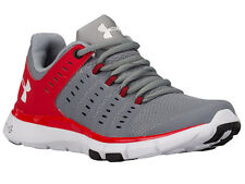 NEW WOMENS UNDER ARMOUR MICRO G LIMITLESS TR 2 CROSS TRAINING SHOES STEEL / RED