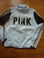"VICTORIAS SECRET PINK ""PINK"" ANORAK 1/4 ZIP WINDBREAKER SOLD OUT NWT"