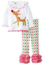 Girl's Clothes Holiday Mud Pie Girls Reindeer Tunic And Legging Set