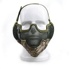 Tactical Hunting Metal Mesh Airsoft Paintball Protective Gear Half Face Ear Mask
